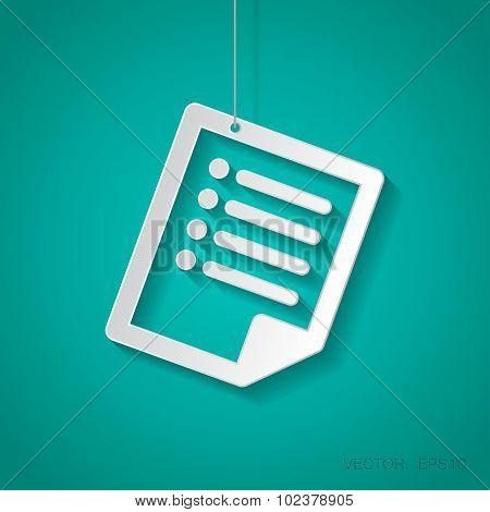 Vector document icon. Eps10