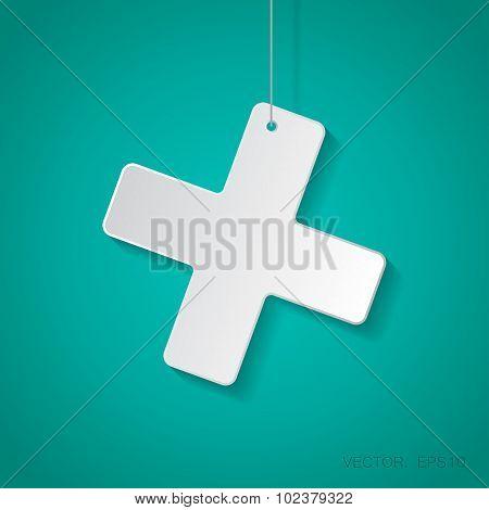 Vector cross icon. Eps10