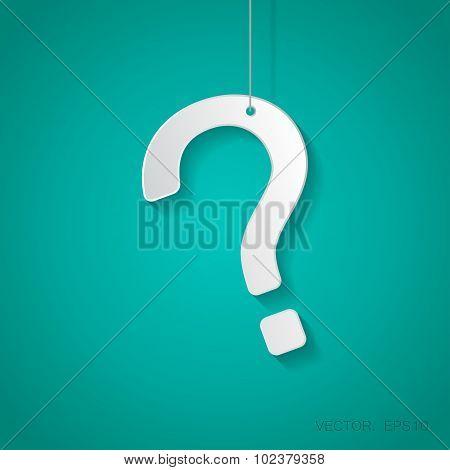 Vector question mark icon. Eps10