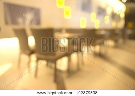 Blurry restaurant