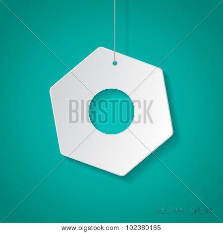 Vector nut icon. Eps10