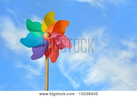 Pinwheel On A Blue Sky