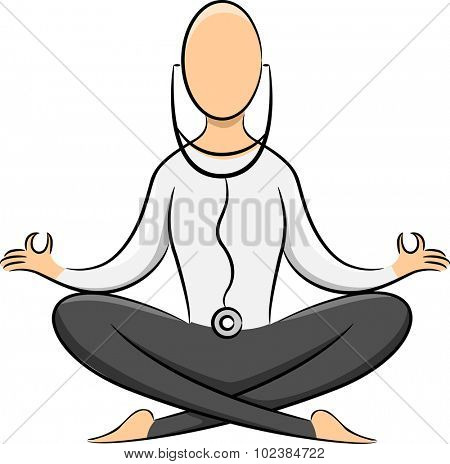 Illustration of the Outline of a Yoga Practitioner