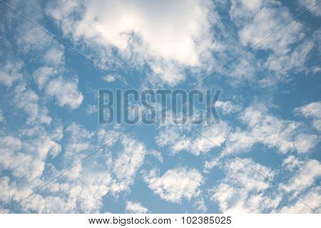 White cloud over blue sky