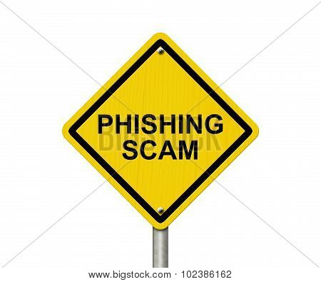 Phishing Scam Warning Sign