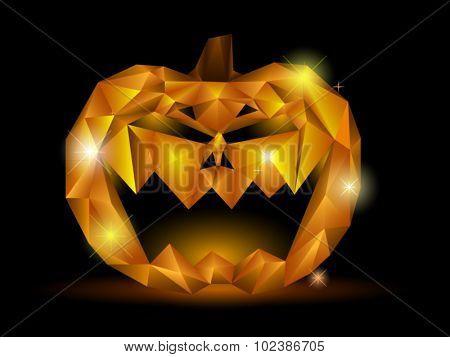 Scary pumpkin Jack-lantern