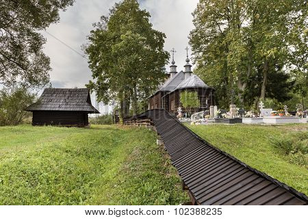 Old Wooden Orthodox Catholic Church, Nowica, Poland