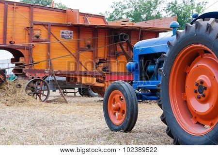 Tractot And Straw Baler