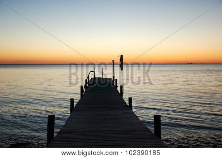 Sunset By The Bathing Pier