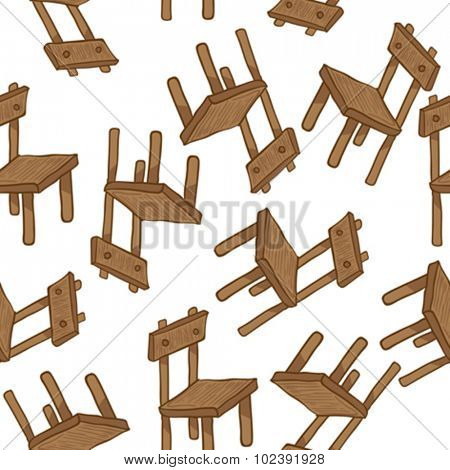 wooden chair seamless pattern