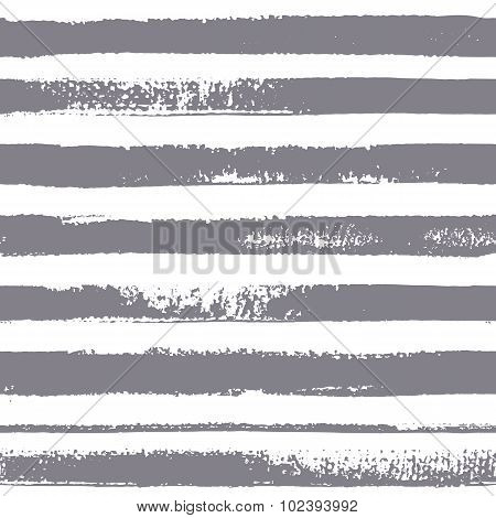 Textured Stripes. Brush stripes vector seamless pattern.