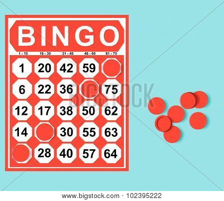 Illustration Of Bingo Card