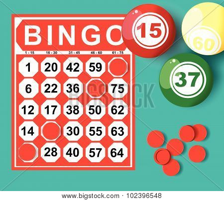 Bingo Card And Ball