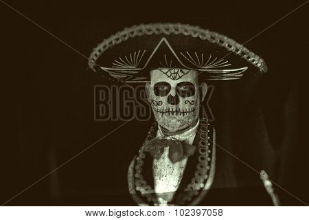 Man wearing a Cinco de Mayo halloween costume