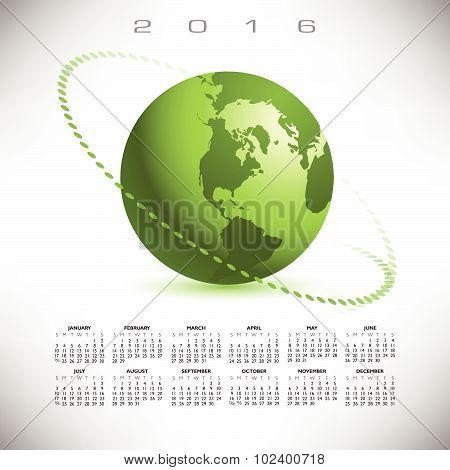 A 2016 globe calendar
