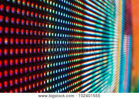 Extreme Macro Of Bright Colored Led Smd Screen