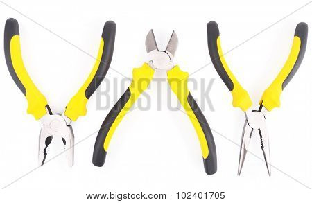 Pliers isolated on white