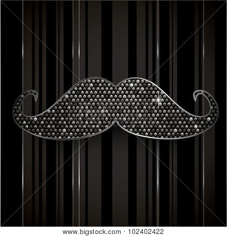Elegant Mustache Background