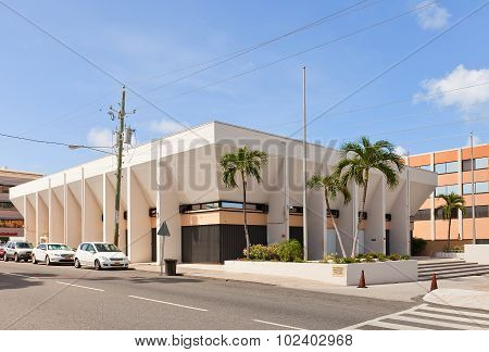 Law Courts Building In George Town Of Grand Cayman
