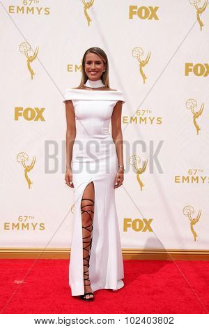 LOS ANGELES - SEP 20:  Renee Bargh at the Primetime Emmy Awards Arrivals at the Microsoft Theater on September 20, 2015 in Los Angeles, CA