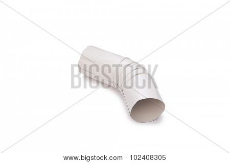 Pipe connector isolated on the white