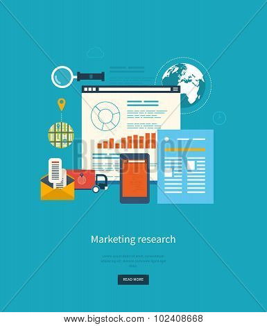 Concepts for business analytics, strategy planning, project management, marketing research