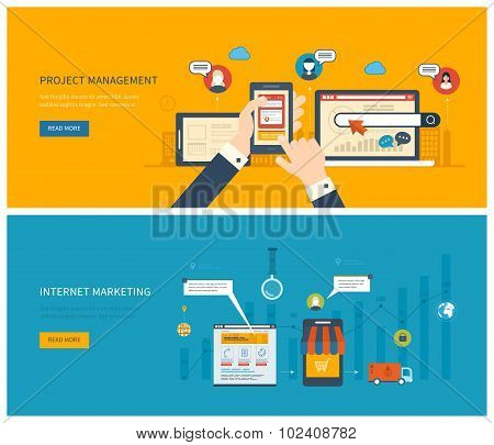 project management and internet marketing