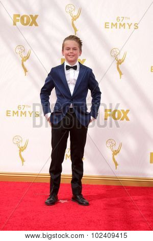 LOS ANGELES - SEP 20:  Mason Vale Cotton at the Primetime Emmy Awards Arrivals at the Microsoft Theater on September 20, 2015 in Los Angeles, CA