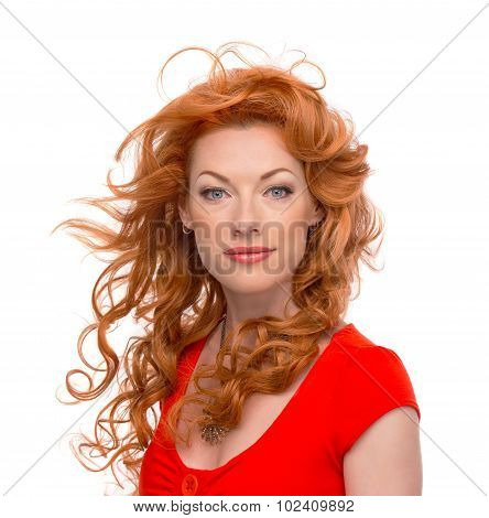 Attractive redhead woman