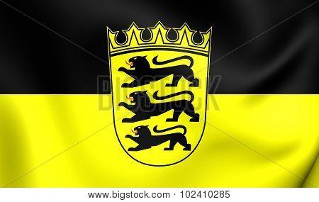 Flag Of Baden-wurttemberg, Germany.