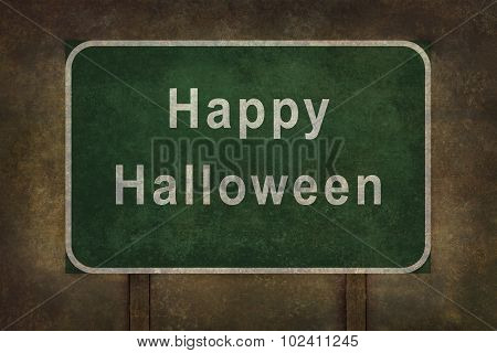 Scary Happy Halloween sign