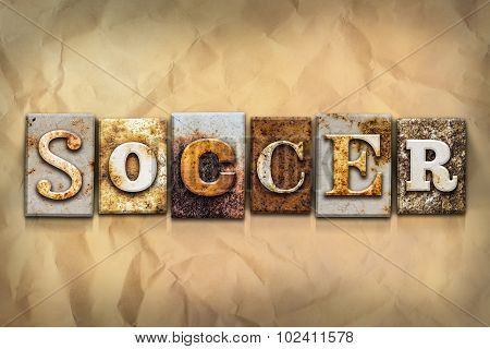 Soccer Concept Rusted Metal Type