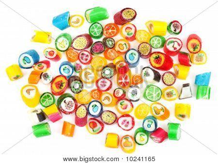 Varicoloured Sweet Lollipop Is Spilt