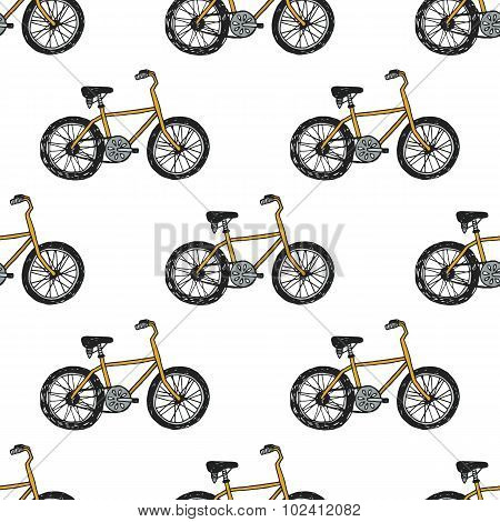 Hand drawn doodle cycling background