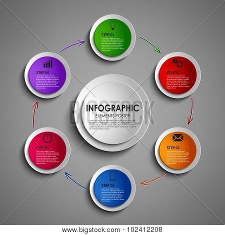 Info Graphic Round Design Element Template
