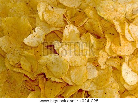 Background Made Of Crisps