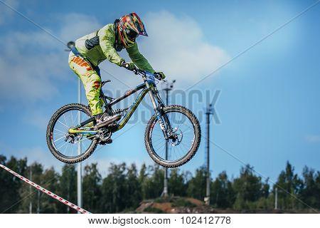 racer on the mountain bike