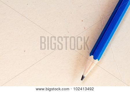 Paper Background With Pencil And Space For Text