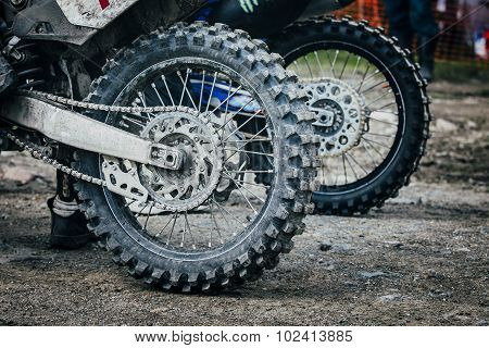 wheel of  enduro bike