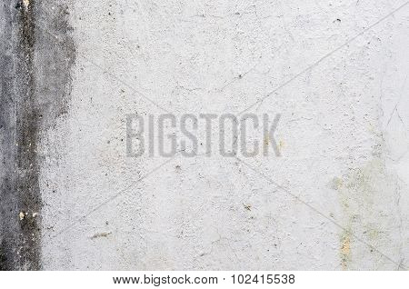 old grunge stucco white wall on vintage house