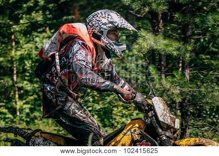 motocross racer on the track
