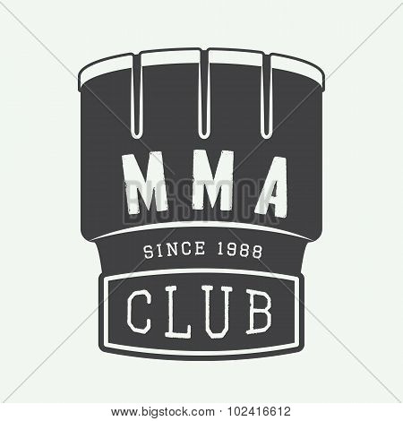 Vintage Mixed Martial Arts Logo, Badge Or Emblems.