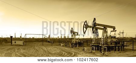 Panoramic Oil Pumpjack.