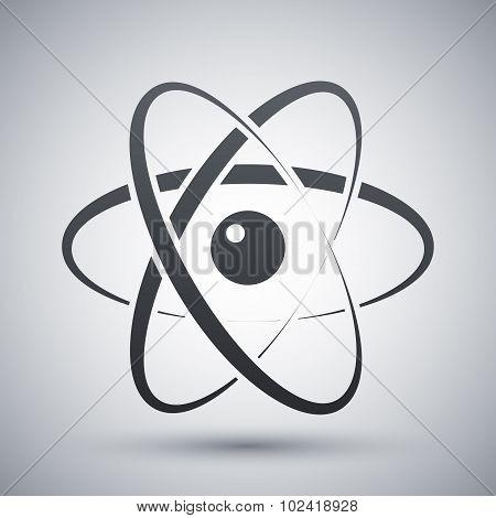 Vector Atom Model Icon