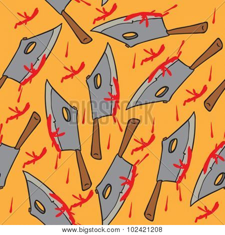 meat chopper seamless pattern