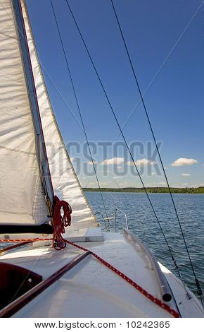 Sailboat On A Beautiful Lake