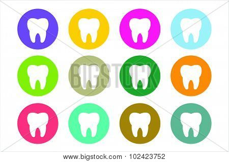 Tooth Icon vector logo set. Health, medical or doctor and dentist office symbols. Oral care, dental, dentist office, tooth health, tooth care, clinic. Tooth logo. Tooth icon. Tooth silhouette