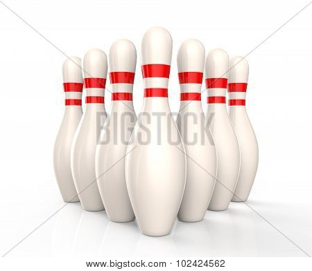 Bowling Skittles Isolated