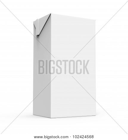 Juice, Milk White Carton Box Isolated