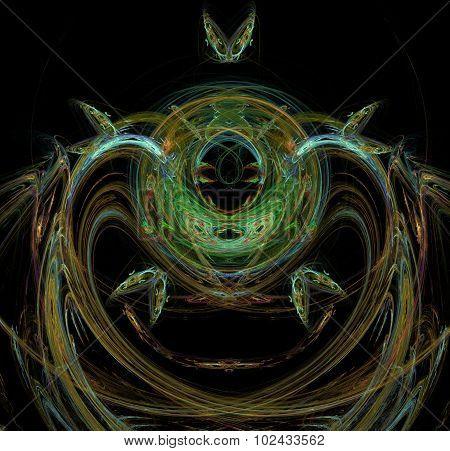 Burning Plasma Flows In A Dark Space.